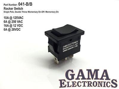 Mini 10 Amp Rocker Switch Spdt 3 Position Momentary On-off-momentary On 041-bb