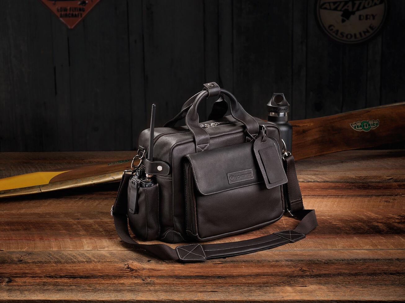 Lightspeed Adventure Flight Bag Collection - The Markham: Leather Flight Bag