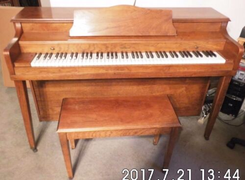 Used Melodigrand Upright Piano & Bench Nice Shape Great For Students Pickup Only
