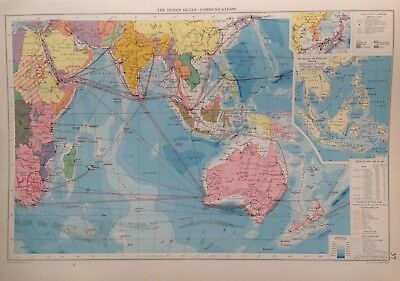 The Indian Ocean-Communications, 1952, Mercantile Marine Atlas, Philip