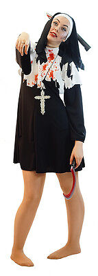 NEW- ZOMBIE NUN HALLOWEEN/HORROR/FANCY DRESS COSTUME LADIES SIZES