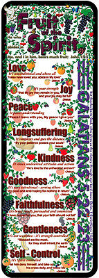 Bible Bookmark - Fruit of the Spirit (4 Pack) - - Fruits Of The Spirit Craft