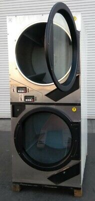 Stainless Steel Adc Gas Stack Dryer Coin Op 240v 60hz 1ph Sn549054 Refurb.