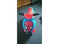 Spiderman ride on bike, good condition, £10 Bargain!!!
