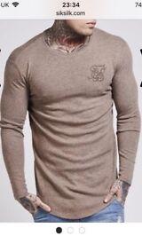 Men's large sik silk top