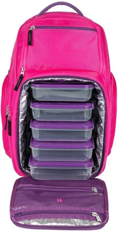 6 PACK FITNESS EXPEDITION 500 BACKPACK MEAL MANAGEMENT BAG SIX PACK BAG PINK