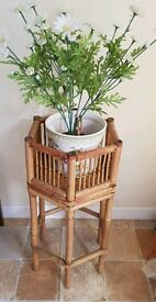 Bamboo Ornamental Plant Pot Stand