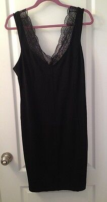NWT H&M Little black dress with lace V-Neck Size Large Sexy LBD for Date Night