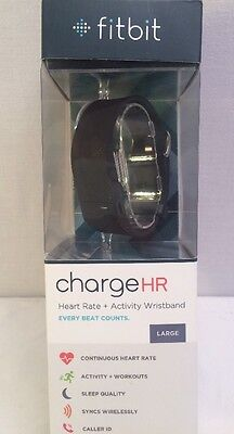 Fitbit Charge HR Large Black Brand New In Box