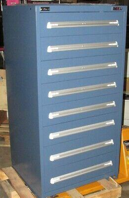 New Stanley Vidmar Industrial Storage Cabinet 8 Drawer - 30 X 28 X 59