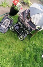 Doll Pram with accessories