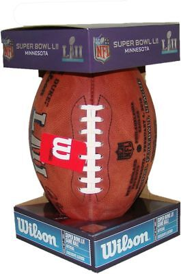 Super Bowl LII Authentic Official Game Football with Eagles & Patriots Inscribed (Patriots Football Game)