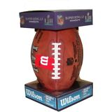 NFL Super Bowl 52 Authentic Wilson Game Football w/ Eagles & Patriots Inscribed
