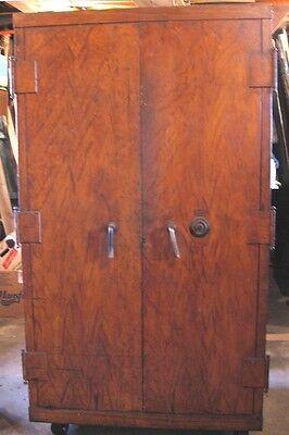 Mosler Vintage Safe - Faux Wood Grain 72t 38w 25d Very Good Shape. Heavy