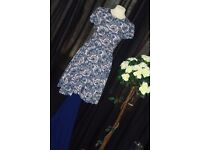 Blue and Peach Print Child's Dress or Ladies Top - Zee.H.M Fashion