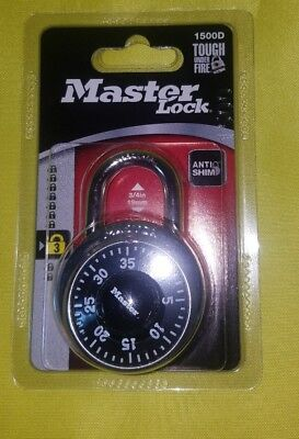 Master Lock 1500d Combination Padlock Center Dial P37621 Sealed Free Shipping