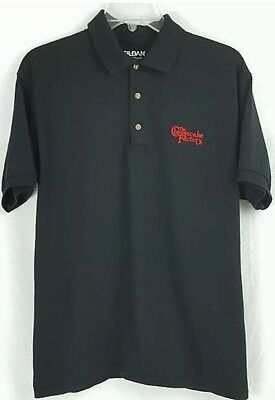 The Cheesecake Factory Mens Polo Shirt Black Gildan Brand Size X Large