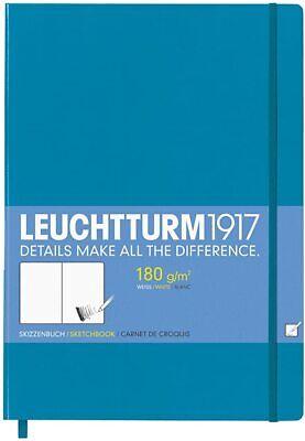 LEUCHTTURM 1917 SKETCHBOOK - A5 Size, 180gsm white paper. HTF Azure (Blue)