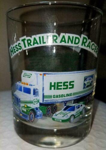 1992 Hess Classic Truck 1996 Series Collector Glass Tumbler Hess Trailer & Racer