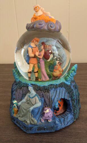 Disney Hercules Snow Globe w/ Rotating Base WORKS! Music Song I Won