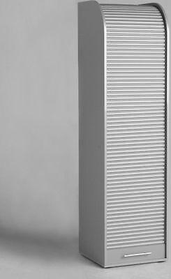 Rolloschrank, silber/silber, Büroschrank, Aktenschrank, Büromöbel, Rollladen