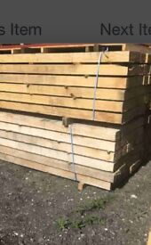 Job lot of oak beams