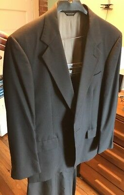 Mens Bill Blass Suit Grey Size 40R Shirt And Tie