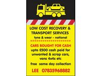 WANTED SCRAP CARS VANS 4x4s. CASH PAID SAME DAY COLLECTION ALL AREAS
