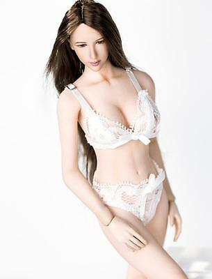 "1//6 White Cami Top Lingeries Underwear Panties Set For 12/"" Phicen Hot Toys ❶USA❶"