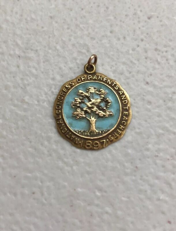 Vintage 10k Gold 1897 National Congress Of Parents and Teachers Necklace Charm