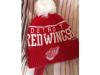 Mitchell & Hess Detroit Red Wings Bobble Hat