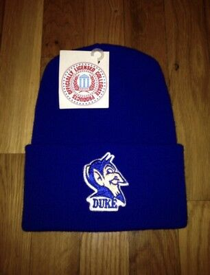 vintage duke blue devils beanie skully winter hat cap adult OSFA 90s made in USA
