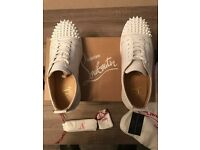 Genuine Christian Louboutin Low Calf Triple White Shoes