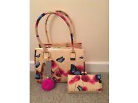 Brand New Red Fox Handbag and Purse