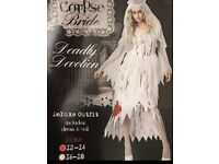 Ladies Halloween Ghost Bride 12-14 new