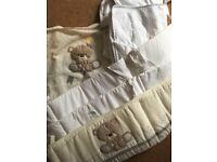 Cot bumper and blanket bundle