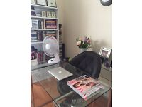 Home Office Glass Desk and Chair
