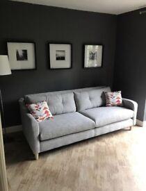 Grey Sofology Neve 4 Seater Sofa