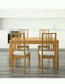 Dinning table and 4chairs