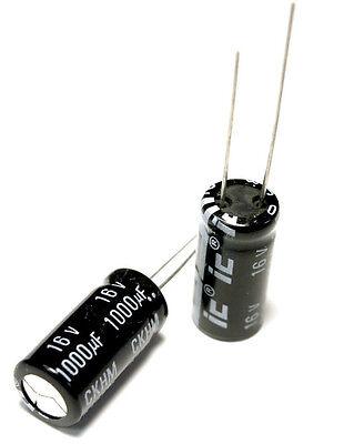 4pcs Illinois Ckhm 1000uf 16v 105c Radial Electrolytic Capacitor 1000mfd