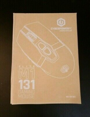 CYBERPOWERPC ELITE M1 131 Gaming Mouse USB Wired 9 Button RGB LED New Retail