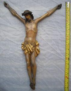 1800&#039;s ANTIQUE HAND CARVED WOOD JESUS CHRIST INRI CHURCH CRUCIFIX CROSS - 44cm - <span itemprop='availableAtOrFrom'>Wien, Österreich</span> - 1800&#039;s ANTIQUE HAND CARVED WOOD JESUS CHRIST INRI CHURCH CRUCIFIX CROSS - 44cm - Wien, Österreich