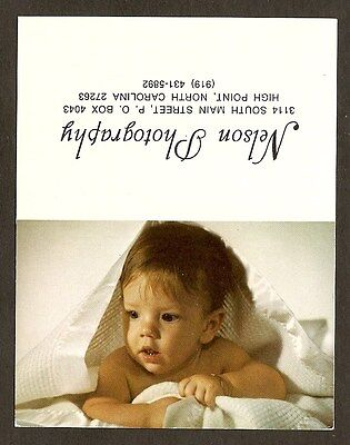 Small Folding Advertsing Card   Nelson Photography   High Point  North Carolina
