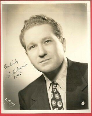 1945 Autographed GUILIO GARI Tenor New York City Opera 8 x 10