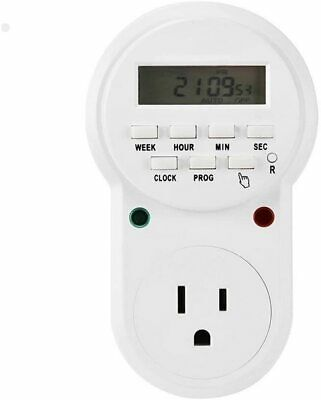 7 Days Programmable Plug-in Digital Timer Switch Controllers Smart Socket Plug