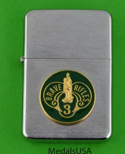 3RD ARMORED CAVALRY REGIMENT ARMY WINDPROOF PREMIUM LIGHTER - BRAVE RIFLES SBC51