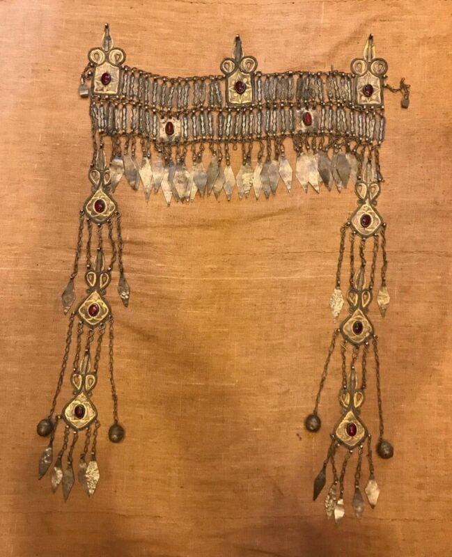 Vintage kuchi ethnic alphaca fascia jewelry, handmade headband