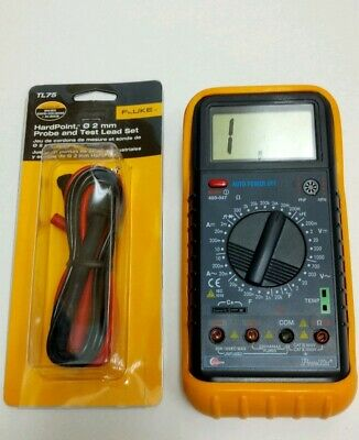 Eclipse Pros Kit 400-047 20 Amp Multimeter Protective Case Fluke Lead Set