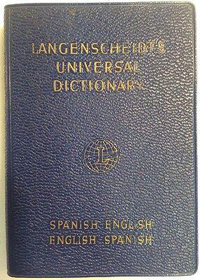 Langenscheidts Universal Dictionary Spanish  1962 Softback  Preownedbook Com