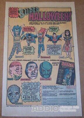 BEN COOPER costumes '70s PRINT AD Isis Batman Superman Super Halloween - Halloween Isis Costume